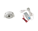 LEDware LED spotlight set 1x 105A brushed alu warm white (2700k | 3W | 190lm | Ø43mm)