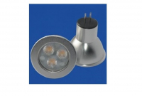 LED steeklampje | 12V | 3 LED | 3W | VV 20W | Daglicht Wit | GU4 | MR11 | 30 graden