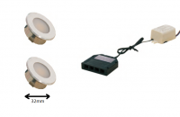 LEDware | LED inbouwspot | 2 LED spots | 100Lm | Doe Het Zelf LED Kit | Warm Wit | DP05